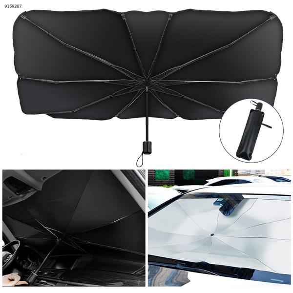 Car sunshade, retractable, sun-proof, heat-insulation and cooling, front windshield, car sunshade umbrella (145*79cm) Other BIG