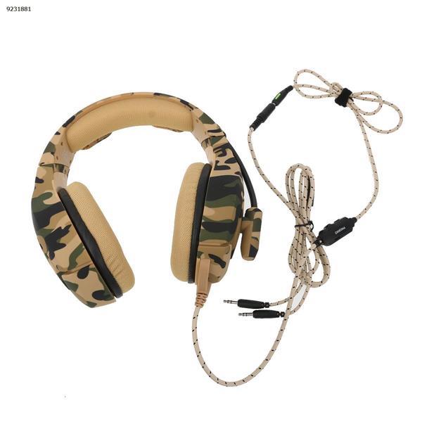 ONIKUMA K1-B Camouflage Series Headphones for games (Camouflage and Yellow) Headset K1-B CAMOUFLAGE