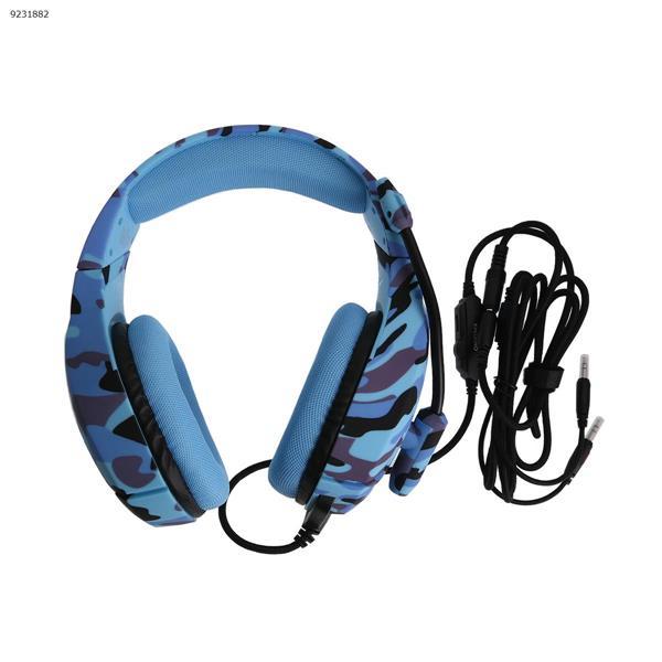 ONIKUMA K1-B Camouflage Series Headphones for games (Navy Blue) Headset K1-B Camouflage