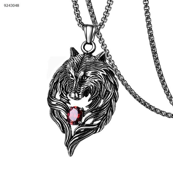 Wolf totem necklace    red Other D06-03