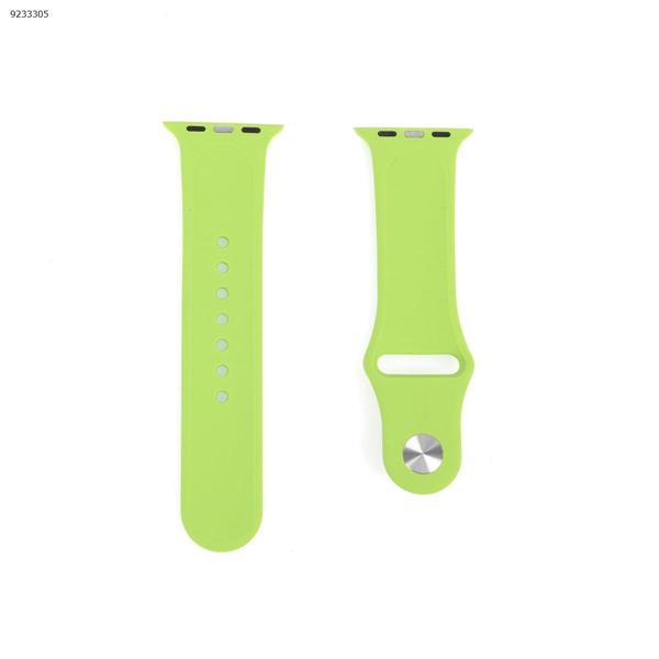 Applicable iwatch1234 silicone strap Apple Watch with apple watch band monochrome watch strap (green) 38-40MM Other IWATCH1234
