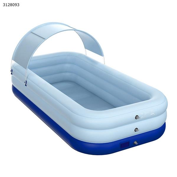 PVC shade wireless automatic inflatable swimming pool blue 318x180x68cm Other N/A