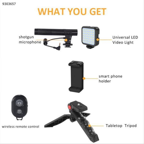 KIT-01LM microphone stand fill light vlog portable tripod live broadcast kit Photo& Video Kits KIT-01LM