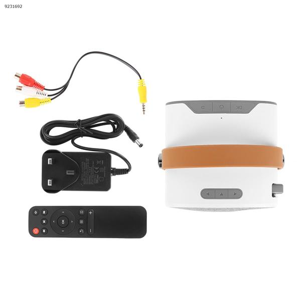 YG230 Mini Wireless Mobile Phone Projector Home HD 1080P Portable Mini Projector (UK) Projector YG230
