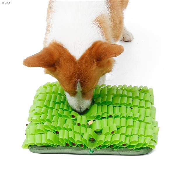 Pet Jelly DIY Splicing Sniffing Mat Waterproof and Easy-to-clean Dog Anti-boring Toy (Green) Home Decoration PD50068