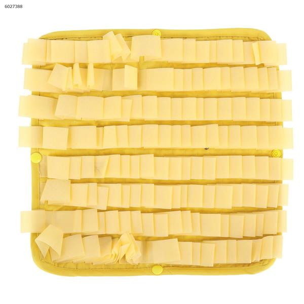 Pet Jelly DIY Splicing Sniffing Mat Waterproof and Easy-to-clean Dog Anti-boring Toy (Yellow) carpet PD50068