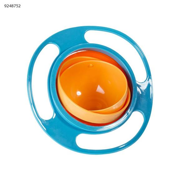 Children's bowl 360 degree rotating balance bowl (blue) Home Decoration N/A