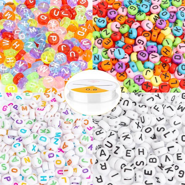800PCS letter beads 4 colors Other N/A